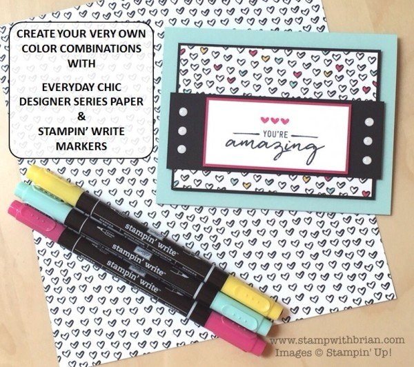 Watercolor Wishes Card Kit, Stampin' Up!, Brian King, Create Your Own Color Combinations by Coloring on Designer Series Paper