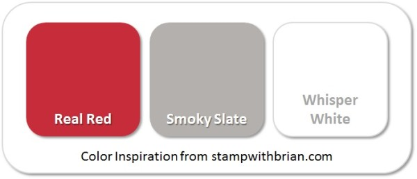 Stampin' Up! Color Inspiration: Real Red, Smoky Slate, Whisper White