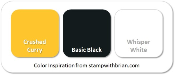 Stampin' Up! Color Inspiration: Crushed Curry, Basic Black, Whisper White