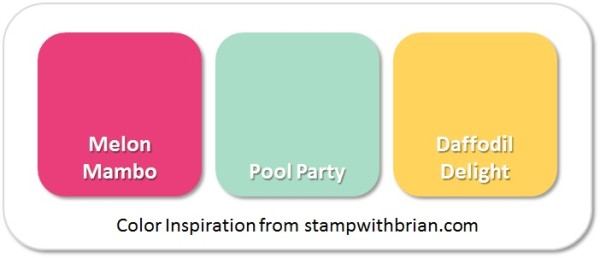 Stampin' Up! Color Inspiration: Melon Mambo, Pool Party, Daffodil Delight