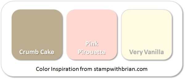 Stampin' Up! Color Inspirations: Crumb Cake, Pink Pirouette, Very Vanilla