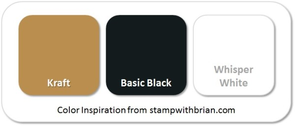 Stampin' Up! Color Inspirations: Kraft, Basic Black, Whisper White