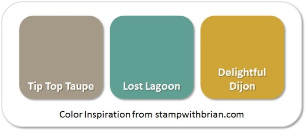 Stampin' Up! Color Inspiration: Tip Top Taupe, Lost Lagoon, Delightful Dijon