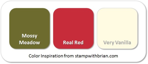 Stampin' Up! Color Inspiration: Mossy Meadow, Real Red, Very Vanilla