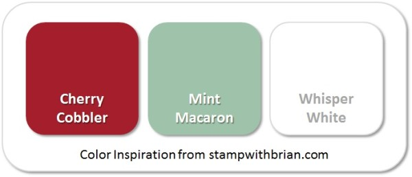 Stampin' Up! Color Inspiration: Cherry Cobbler, Mint Macaron, Whisper White