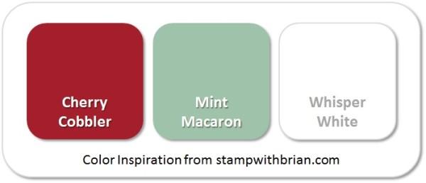 Stampin' Up! Color Inspiration: Cherry Cobbler, Mint Macaron, Whisper White