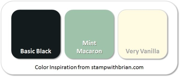 Stampin' Up! Color Inspiration: Basic Black, Mint Macaron, Very Vanilla