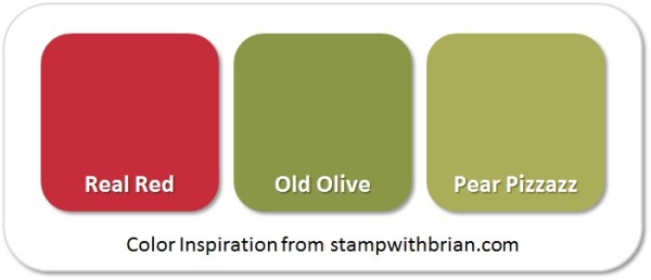 Stampin' Up! Color Inspiration: Real Red, Old Olive, Pear Pizzazz