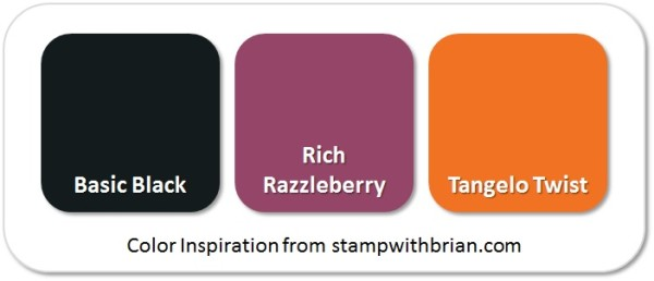 Stampin' Up! Color Inspiration: Basic Black, Rich Razzleberry, Tangelo Twist