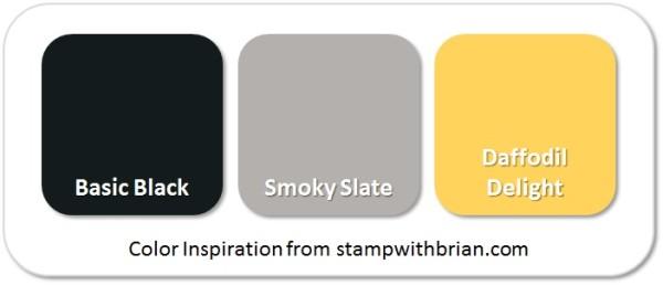 Stampin' Up! Color Inspiration: Basic Black, Smoky Slate, Daffodil Delight