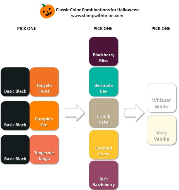 Stampin' Up! Color Inspiration: Classic Color Combinations for Halloween