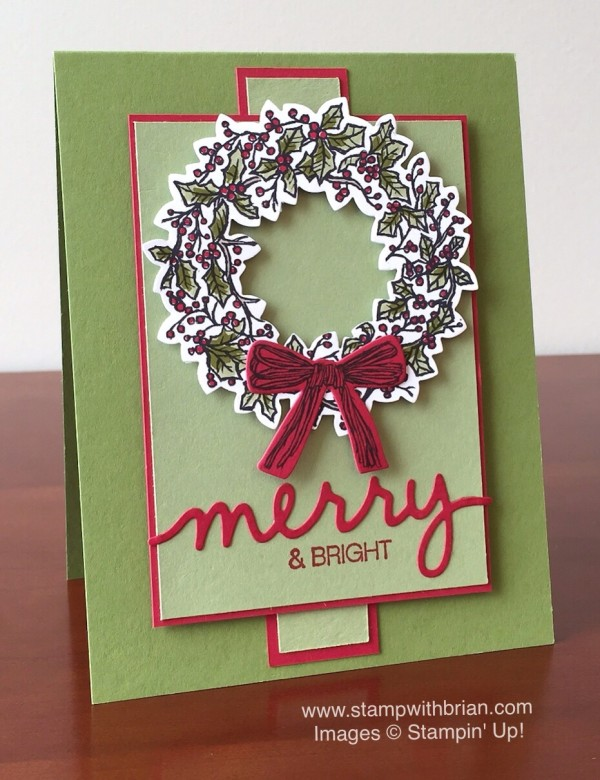 Peaceful Wreath, Stampin' Up!, Brian King, MM169