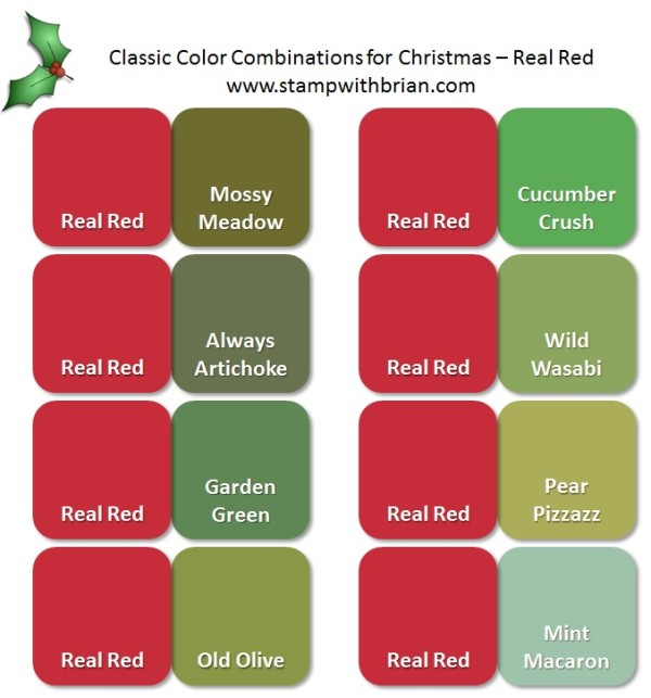 Stampin' Up! Color Inspiration: Classic Christmas Pairings with Real Red