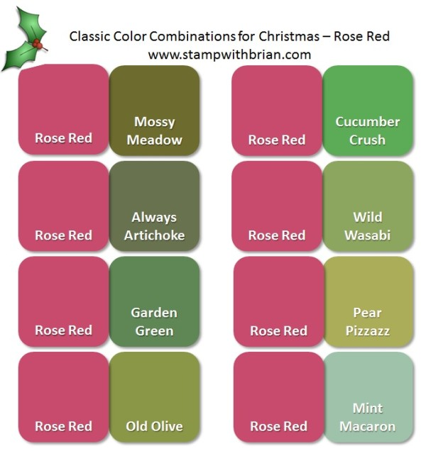 Stampin' Up! Color Inspiration: Classic Christmas Pairings with Rose Red