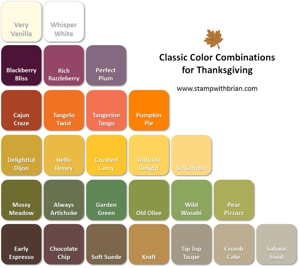 Thanksgiving Color Combinations