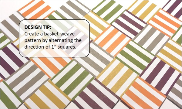 Creating a Basket-Weave Pattern with striped paper, Brian King