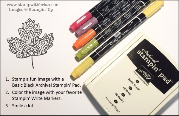 Tips for coloring with Stampin' Up! Write Markers, Brian King