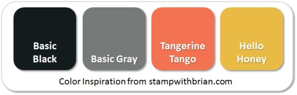 Stampin' Up! Color Inspiration: Basic Black, Basic Gray, Tangerine Tango, Hello Honey