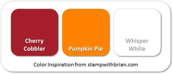 Stampin' Up! Color Inspiration: Cherry Cobber, Pumpkin Pie, Whisper White