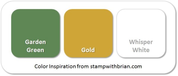 Stampin' Up! Color Inspiration: Garden Green, Gold, Whisper White