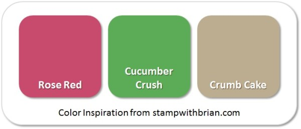 Stampin' Up! Color Inspiration: Rose Red, Cucumber Crush, Crumb Cake