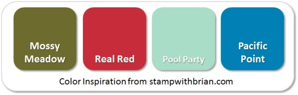 Stampin' Up! Color Inspiration: Mossy Meadow, Real Red, Pool Party, Pacific Point