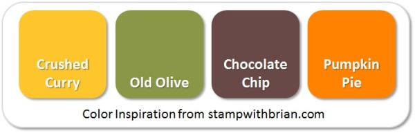 Stampin' Up! Color Inspiration: Crushed Curry, Old Olive, Chocolate Chip, Pumpkin Pie