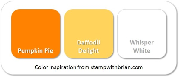 Stampin' Up! Color Inspiration (Candy Corn): Pumpkin Pie, Daffodil Delight, Whisper White