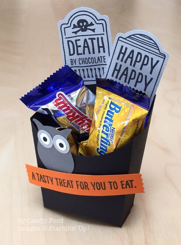 Fry Box Die, Sweet Hauntings, Stampin' Up!, Candy Ford