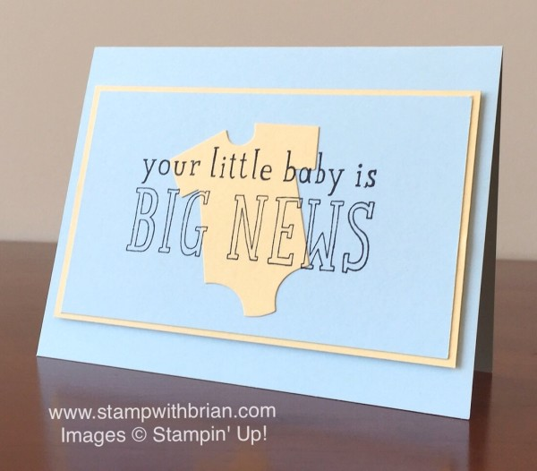 Big News, Stampin' Up!, Brian King, GDP003