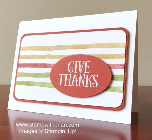 Thankful Forest Friends, Brushstrokes, Stampin' Up!, Brian King, PPA266