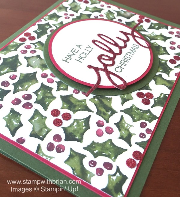 Holly Jolly Greetings, Christmas Greetings Thinlits, Stampin' Up!, Brian King, MM170