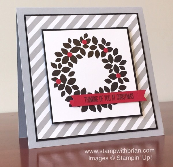 Wondrous Wreath, White Christmas, Stampin' Up!, Brian King, GDP004