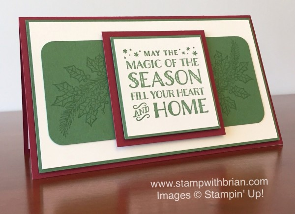 Cozy Christmas, Peaceful Wreath, Stampin' Up!, PPA273