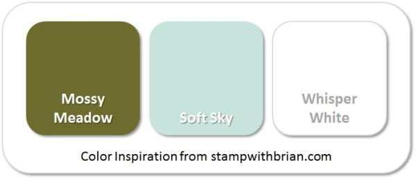 Stampin' Up! Color Inspiration: Mossy Meadow, Soft Sky, Whisper White