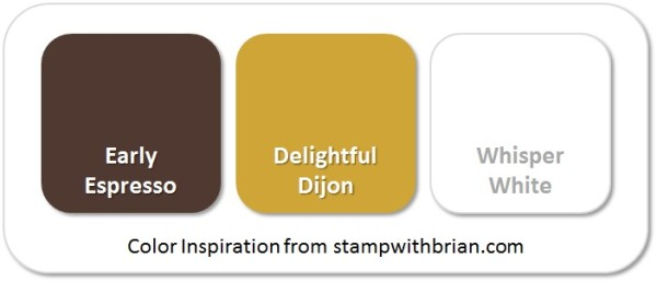 Stampin' Up! Color Inspiration: Early Espresso, Delightful Dijon, Whisper White