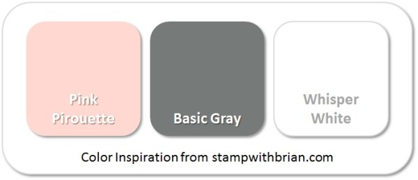 Stampin' Up! Color Inspiration: Pink Pirouette, Basic Gray, Whisper White