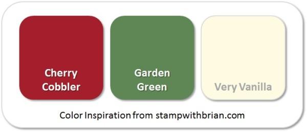 Stampin' Up! Color Inspiration: Cherry Cobbler, Garden Green, Very Vanilla