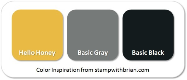 Stampin' Up! Color Inspiration: Hello Honey, Basic Gray, Basic Black