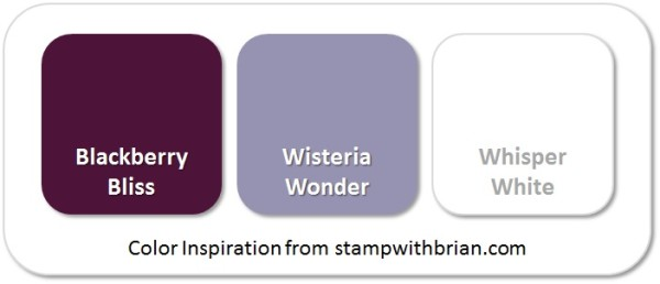 Stampin' Up! Color Inspiration: Blackberry Bliss, Wisteria Wonder, Whisper White
