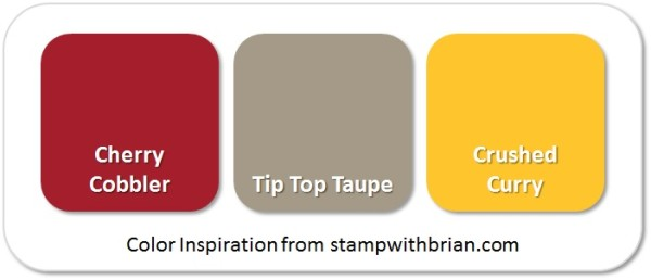 Stampin' Up! Color Inspiration: Cherry Cobbler, Tip Top Taupe, Crushed Curry