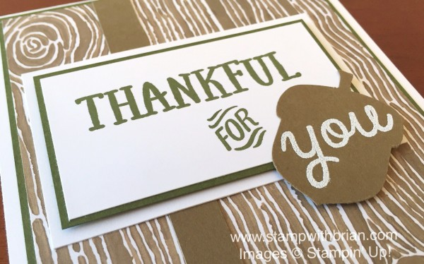 Thankful Forest Friends, Stampin' Up!, Brian King, FMS208