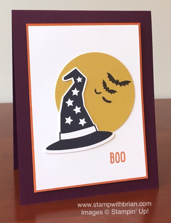 Howl-o-ween Treat, Witches' Night, Happy Scenes, Stampin' Up!, Brian King, Halloween card