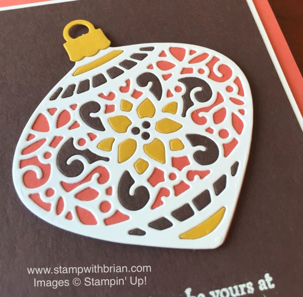 Delicate Ornaments Thinlits Dies, Versatile Christmas, Stampin' Up!, Brian King, PPA274