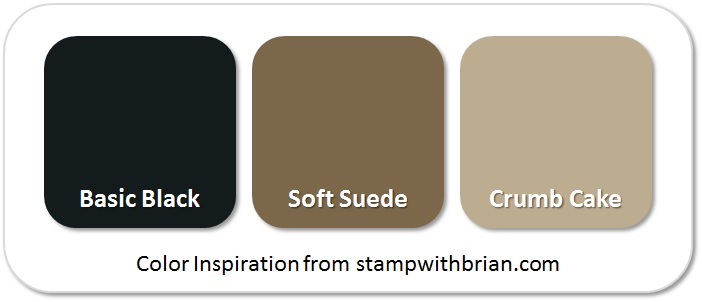 Stampin' Up! Color Inspiration: Basic Black, Soft Suede, Crumb Cake