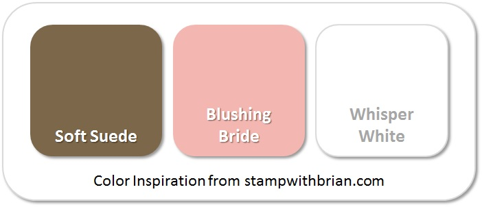 Stampin' Up! Color Inspiration: Soft Suede, Blushing Bride, Whisper White