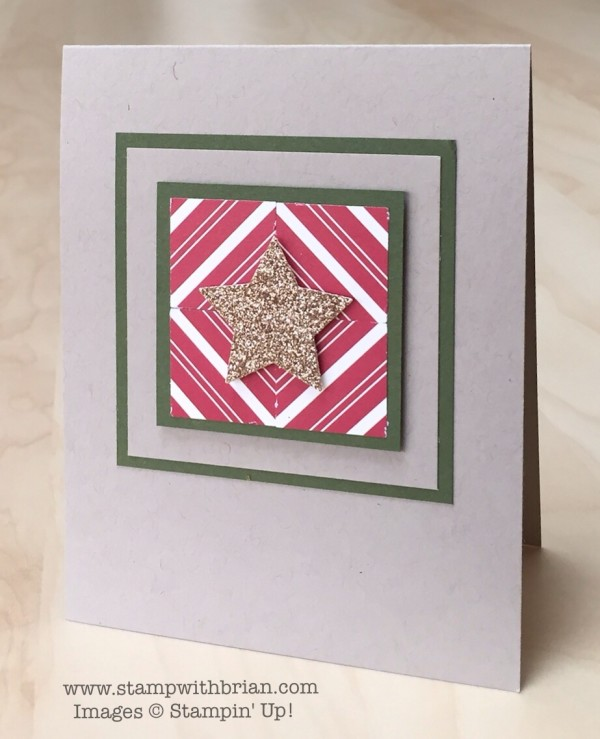 Home for Chrismtas Designer Series Paper, Medium Star punch, Stampin' Up!, Brian King
