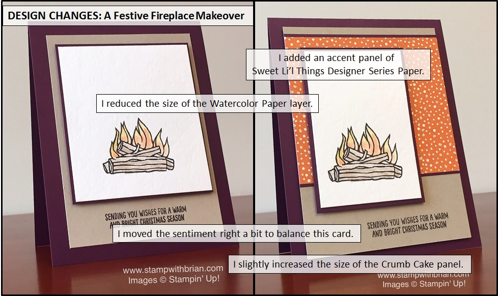 Design Changes: Festive Fireplace Makeover, Stampin' Up!, Brian King