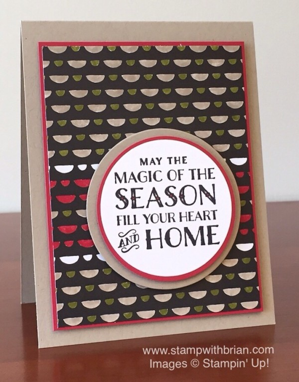 Cozy Christmas, Everyday Chic Designer Series Paper, Stampin' Up!, Brian King, GDP013