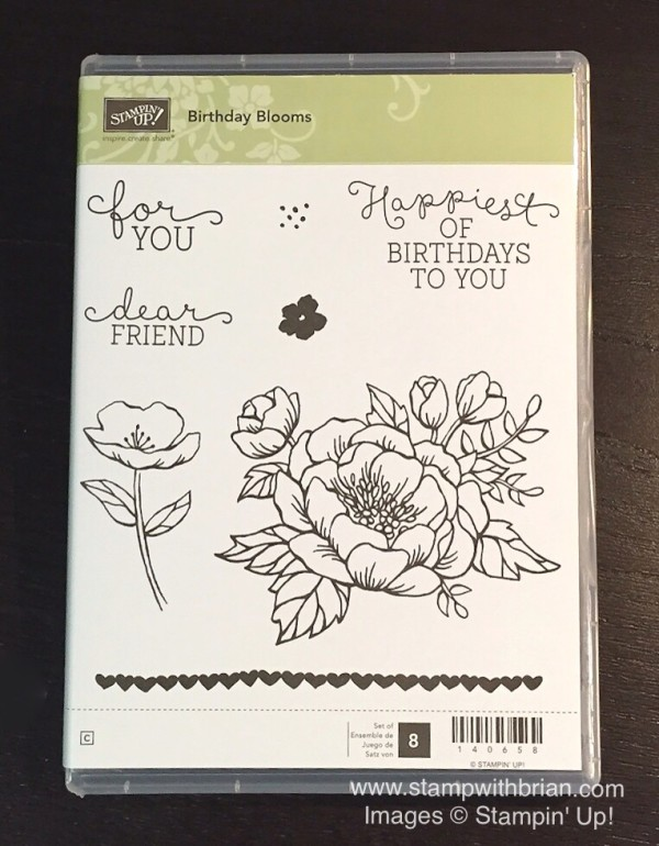 Birthday Blossoms stamp set, Stampin' Up!, Brian King